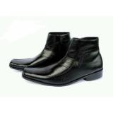 Jual Beli Online Sepatu Pantofel Boots Pria Ritsleting Warna Hitam Bahan Kulit Asli Dz201 Sepatu Formal Pria Sepatu Kerja Pria Sepatu Kantor