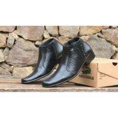 Sepatu Pantofel Boots Pria Ritsleting Warna Hitam Bahan Kulit Asli Dz206 Sepatu Formal Pria Sepatu Kerja Pria Sepatu Kantor Jawa Barat Diskon