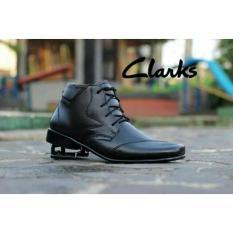 Sepatu Pantofel Clarks Zipper Dan Tali Tinggi