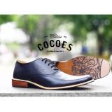 Beli Sepatu Pantofel Formal Kerja Pria Kulit Asli Cocoes Marker Black Online Terpercaya