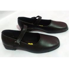 Beli Sepatu Pantofel Formal Wanita Bertali Paskibra Hitam Terbaru