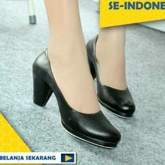 Sepatu Pantofel Heels Aragon Hitam NFZ-10