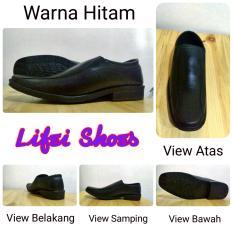 Sepatu Pantofel Kerja Formal Casual Pria Jepang Korea Hitam Black Ukuran Super Besar Big Size jumbo 43 44 45