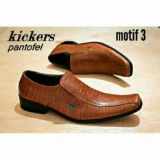 Sepatu pantofel kickers kulit asli