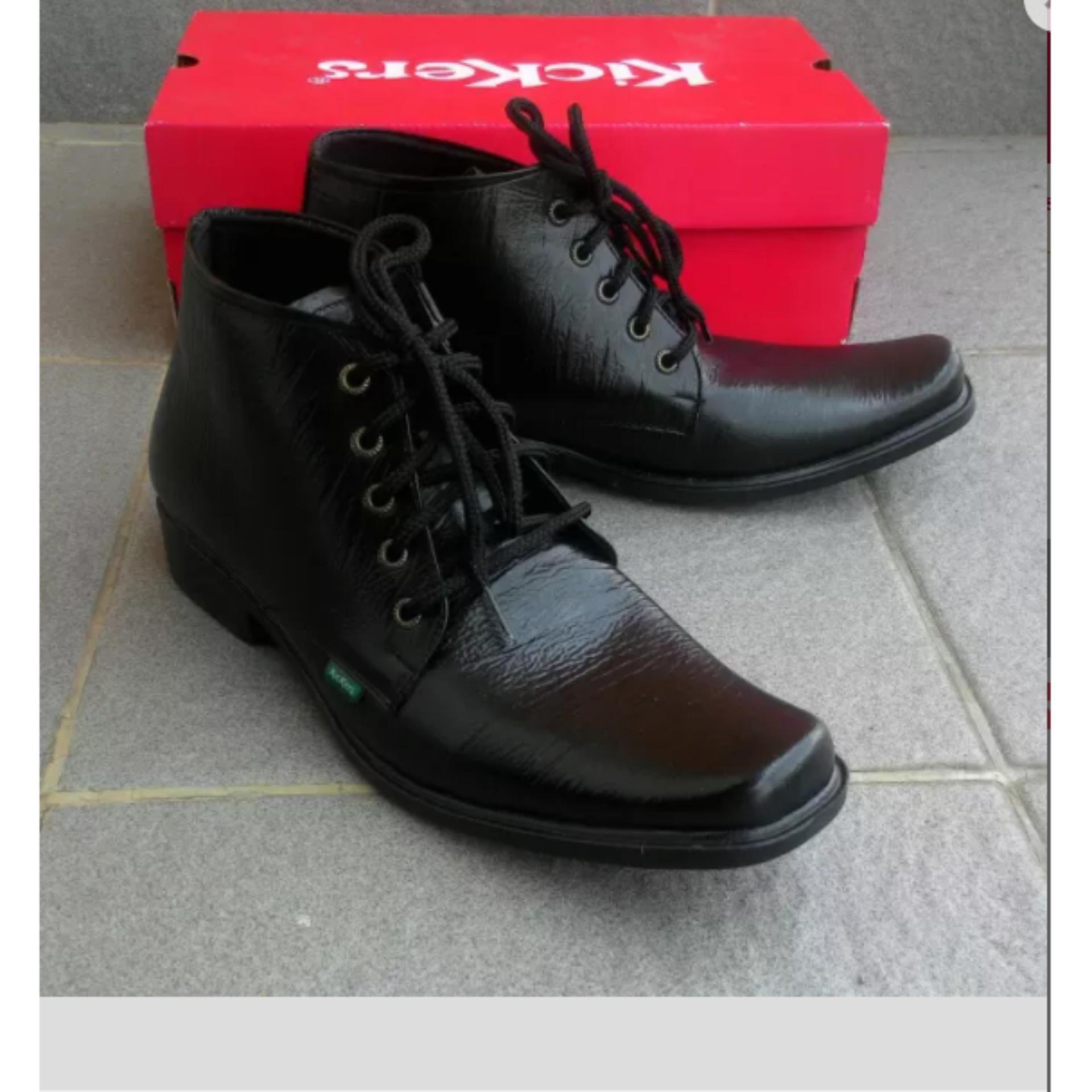 Jual Sepatu Pantofel Kulit Kickers Kantor Kerja Pormal Formal Boots