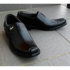 Sepatu Pantofel Kulit Sapi Asli Garut Zigzag