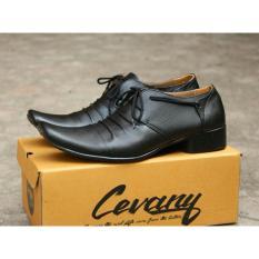 Sepatu Pantofel Pria 100% Kulit Sapi Premium -Kantor Kerja Pesta 902HT  Cevany - Kickers - Bally - Crocodile