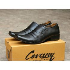 Sepatu Pantofel Pria 100% Kulit Sapi Premium untuk Kantor Kerja Pesta 902HT  Cevany - Kickers - Bally - Crocodile