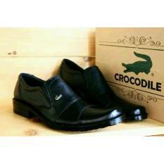Sepatu Pantofel Pria Crocodile Low Kulit Asli - Free Kaos Kaki