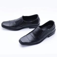 Sepatu Pantofel Pria Hand Made Kulit Asli Harga Murah untuk Kerja Model Simple L-602