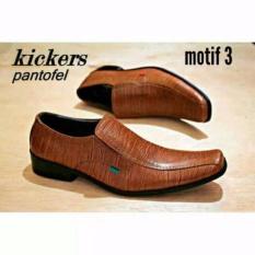 Jual Kickers Sepatu Pantofel Pria Kickers Semi Lancip Bahan Kulit Sapi Asli Kickers Branded