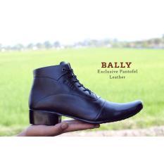 Sepatu Pantofel Pria Kulit Asli Bally High Tali Formal Kerja Kantoran Slop Casual - Free Kaos Kaki