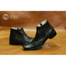 Sepatu Pantofel Pria Kulit Asli Cevany Badami Black Pantopel Pria murah
