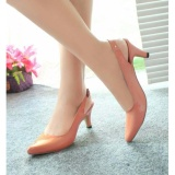 Promo Toko Sepatu Pantofel Slingback Heels Glossy Salem Nfz 007