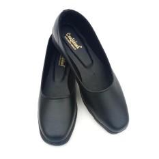 Diskon Sepatu Pantofel Wanita Polos Warna Hitam Sepatu Formal Wanita Akhir Tahun