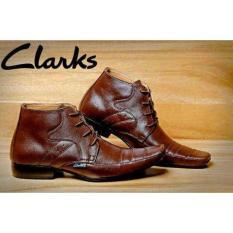 Sepatu Pantopel Clarks Boots Kulit 100% Brown - Lbisew