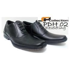 JAFERI Sepatu PDH 02 Reseleting Bahan Kulit Sapi Asli Warna Hitam Untuk  Kerja dan Dinas 937fe8336f