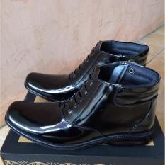Jual Sepatu Pdh Kulit Mengkilap Sepatu Kantor Resleting Army Polisi Tactical Branded