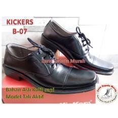 Sepatu PDH Merk Kicker seri B-07 Kulit Asli-Harga Promo Super Murah