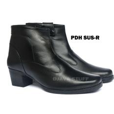 DJAVA STUFF Sepatu PDH R Boots Sepatu Kerja Wanita Kulit Sapi 837ecde71b