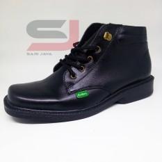 Sepatu PDH tni polri polisi akmil akpol security satpam linmas bahan kulit asli sol empuk tidak licin