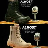 Jual Sepatu Pdl Boots Pria Almost Tactical Swat Black Cream Cordura Delta Boot High Safety Kickers Cowok Online