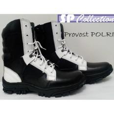 Beli Jaferi Sepatu Pdl Jatah Untuk Provost Polri Bahan Kulit Sapi Asli Warna Hitam Putih Untuk Polri Terbaru