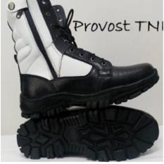 Sepatu PDL Provost TNI Kulit Asli Type Jeruk Good Quality / Sepatu Abri Tentara Polri / Sepatu Safety Boots Kulit Asli Hitam Putih / Sepatu Casual  Pria Cowok