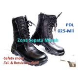 Promo Sepatu Pdl Safety Model 025 Mil Motif Kulit Jeruk Standar Safety Tni Best Quality B2R