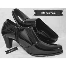 Sepatu PDL Sus Erasmas ANGKLE BOOTH Polwan PNS DISHUB POL PP BHAYANGKARI 048 HAK 7CM