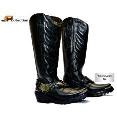 Beli Jaferi Sepatu Pdl Tunggang Polisi Militer Pm Bahan Kulit Sapi Asli Warna Hitam Bisa Juga Untuk Touring Terbaru