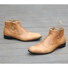Jual Sepatu Pentopel Pria Oxford Boots Cevany Sepatu Kulit Asli Cvf097 Murah Indonesia