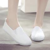 Sepatu Kanvas Wanita Anti Slip Warna Putih Putih Putih Tiongkok
