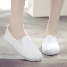 Spesifikasi Sepatu Kanvas Wanita Anti Slip Warna Putih Putih Putih Paling Bagus