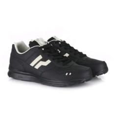 Sepatu Piero Casual Jogger Coal - Black Off White