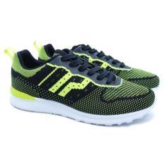 Sepatu Piero Casual Jogger Knit - Black Volt