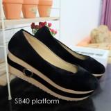 Harga Sepatu Platform Wanita Sb40 Platform Shoes Basic Yang Murah