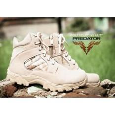 Sepatu Predator Delta Army Tactical Original Safety Boots Sepatu Boots Pria Delta Ujung Besi (sepatu gunung, sepatu hiking, sepatu trecking)