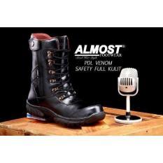 Sepatu Pria Almost Boots Pdl Venom Tinggi Full Kulit Made France Impor - 5Ed395