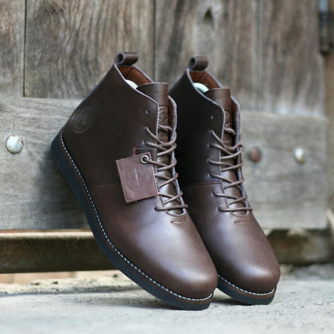 Kelebihan Sepatu Pria Boots Casual Kulit Asli Model Terbaru Bradleys Boot Bradley Erol Houbis Hitam Coklat