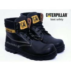 Sepatu Pria Boots TERMURAH Sepatu Caterpillar Boots Licin Safety Hitam Original Brand Custom Bandung