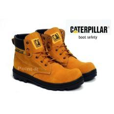Sepatu Pria Boots TERMURAH Sepatu Caterpillar Boots Suede Safety Tan Original Brand Custom Bandung