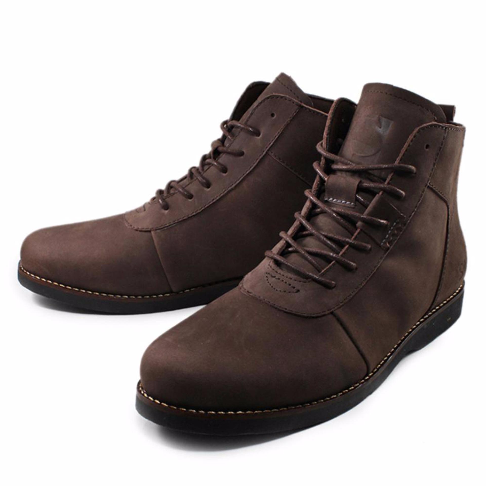 Sepatu Pria Brodo Boots Sauqi Footwear Sepatu Kulit Asli Casual Formal Men's Boots Premium Leather