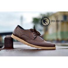 Toko Sepatu Pria Casual Formal Moofeat Opek Brown Original Moofeat Jawa Barat