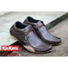 Sepatu Pria Casual Kickers Ferari Temali KULIT ASLI