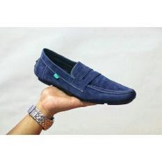 Jual Beli Sepatu Pria Casual Mocasin Slop Jevlin Slip On Navy Baru Jawa Barat