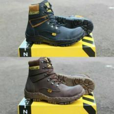 Sepatu Pria Caterpillar Boots Safety Polandia Murah Cat Boot Tracking Proyek