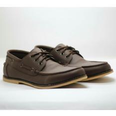 Sepatu Pria Formal / Slip-On Casual Trendy Terbaru - D-ISLAND A7 - Coklat Tua