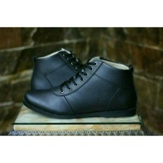 Sepatu Pria Full hitam Semi Boots Formal kerja Kantor Brodo bradleys