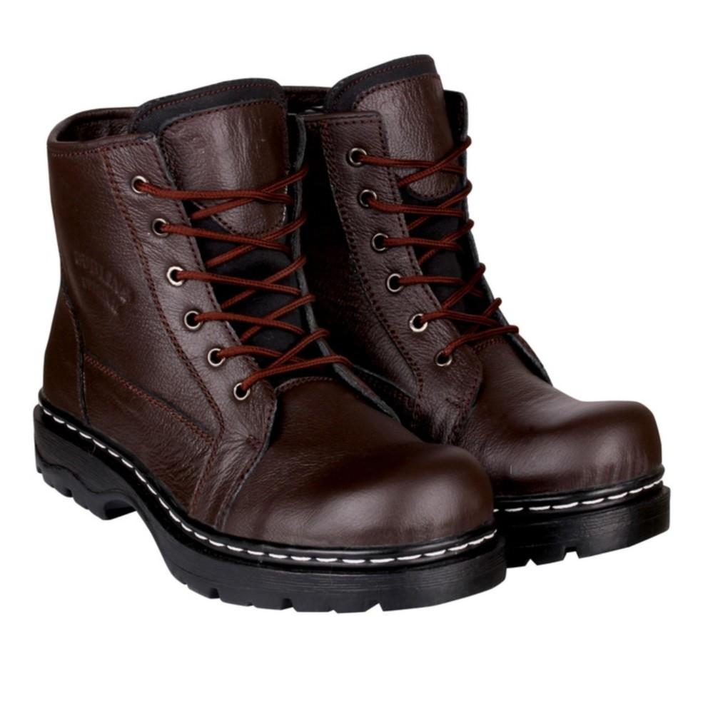 Sepatu pria sefty boot coklat tua